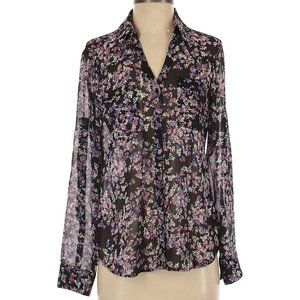 Express Sheer Long Sleeve Floral Blouse Size XS